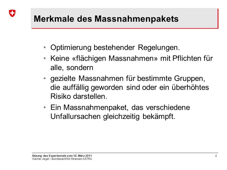 Werner Jeger - Bundesamt für Strassen ASTRA Sitzung des Expertenrats vom 18.