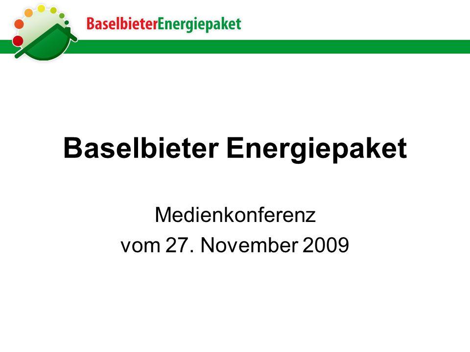 Baselbieter Energiepaket Medienkonferenz vom 27. November 2009