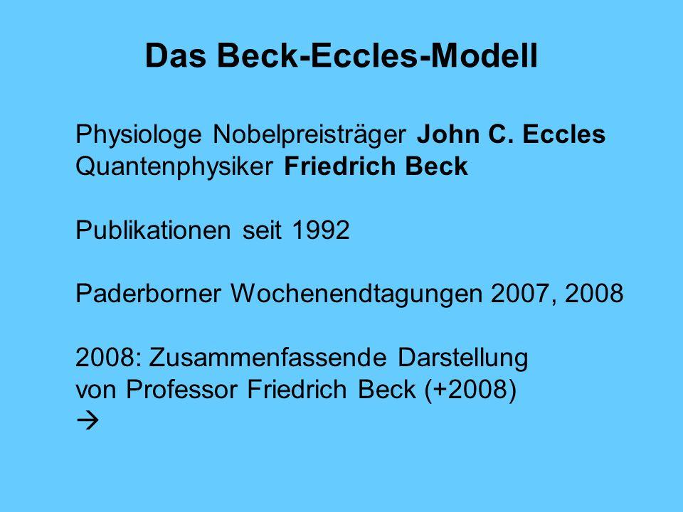 Das Beck-Eccles-Modell Physiologe Nobelpreisträger John C.