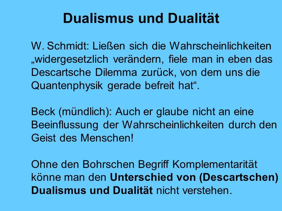 Dualismus und Dualität W.
