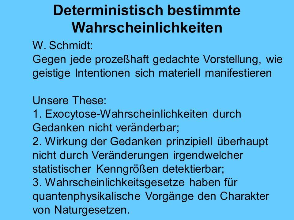 Deterministisch bestimmte Wahrscheinlichkeiten W.