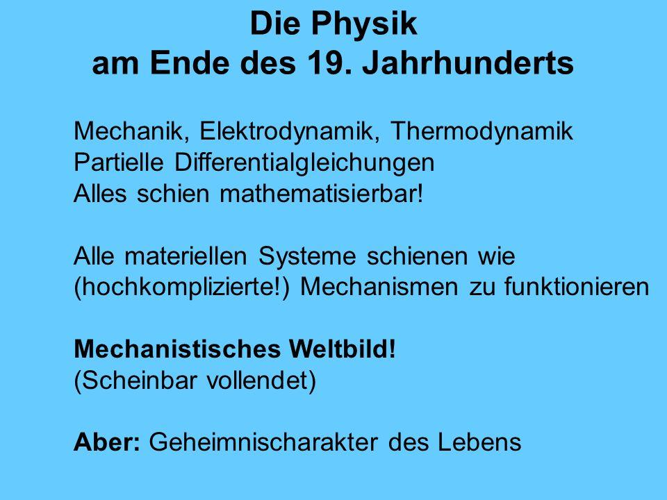 Die Physik am Ende des 19.