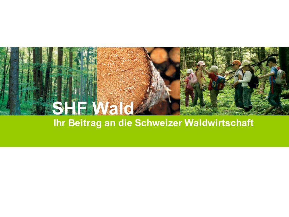 Die Abgabe Selbsthilfefonds Wald (SHF Wald) beträgt 1 Franken pro Kubikmeter Sägerundholz.
