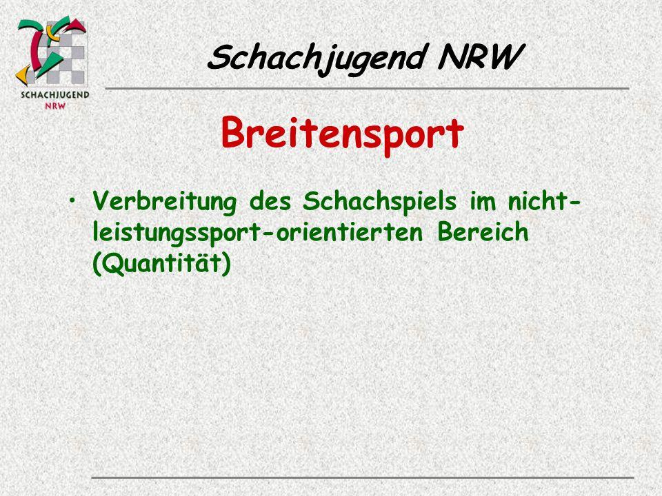 Schachjugend NRW Breitensport Verbreitung des Schachspiels im nicht- leistungssport-orientierten Bereich (Quantität)