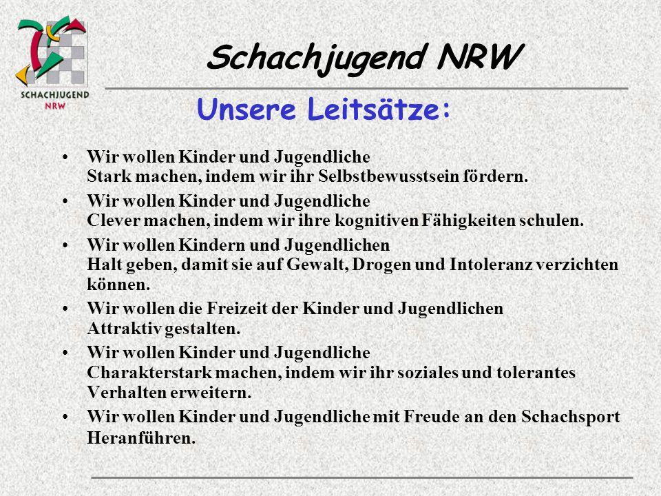 Schachjugend NRW Allgemeine Jugendarbeit Berücksichtigung und Förderung allgemeiner jugend- und geschlechtsspezifischer Bedürfnisse