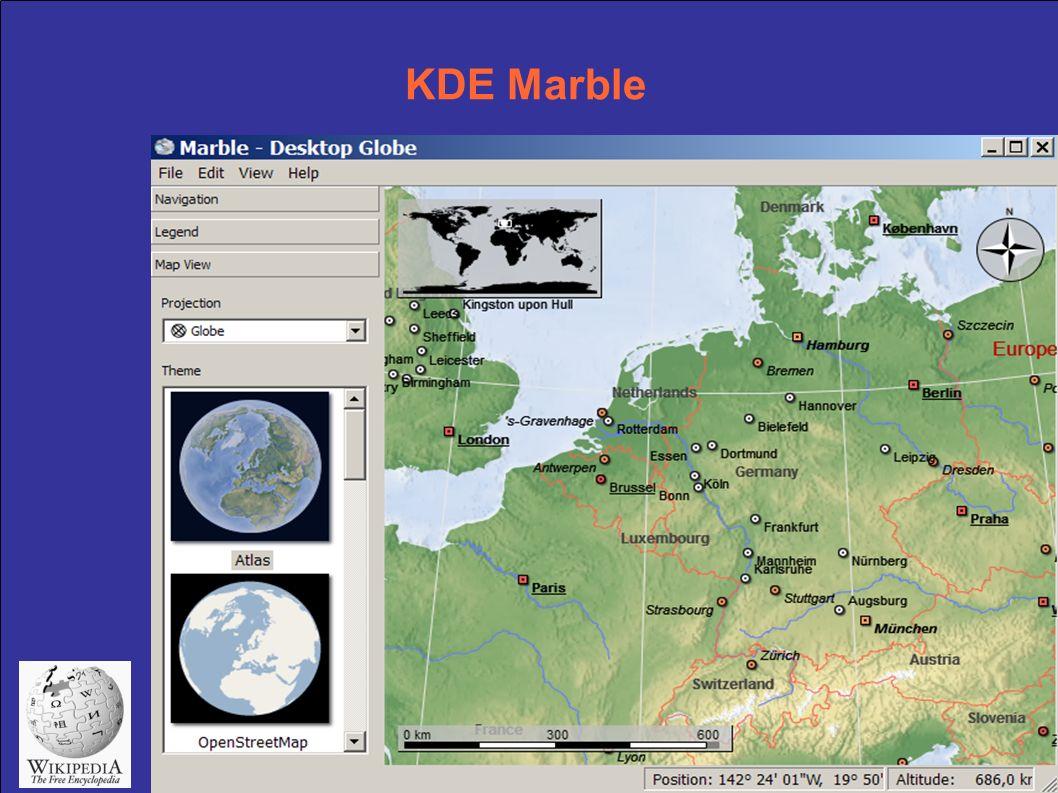KDE Marble