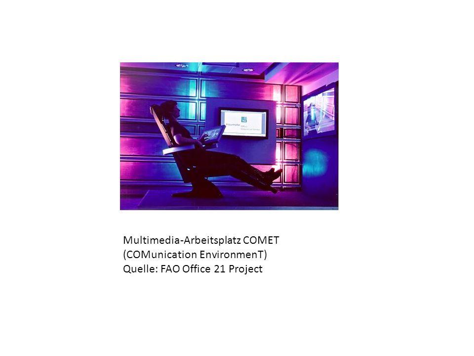 Multimedia-Arbeitsplatz COMET (COMunication EnvironmenT) Quelle: FAO Office 21 Project