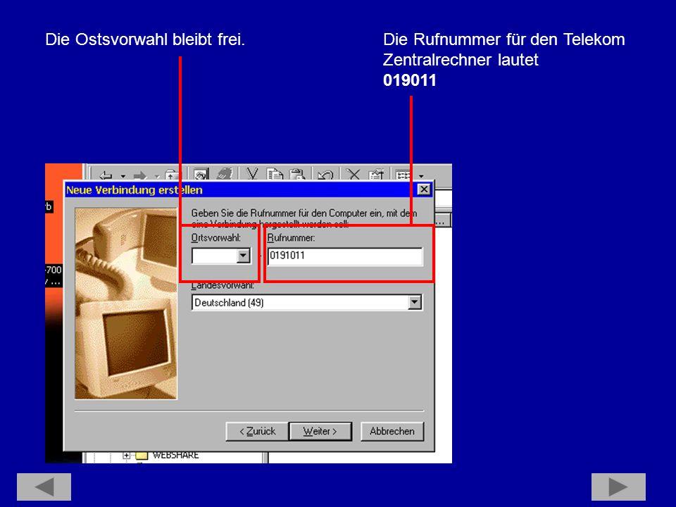Damit wäre die DFÜ-Verbindung eingerichtet.Wir wenden uns dem berühmten Internet Explorer zu.