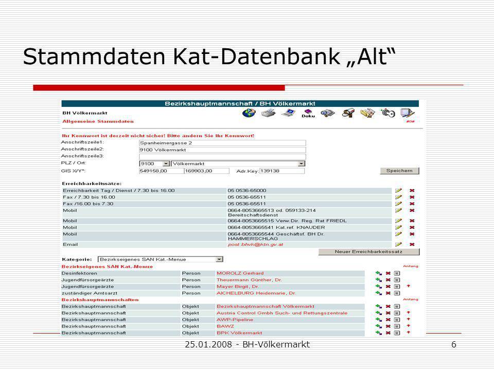 25.01.2008 - BH-Völkermarkt6 Stammdaten Kat-Datenbank Alt