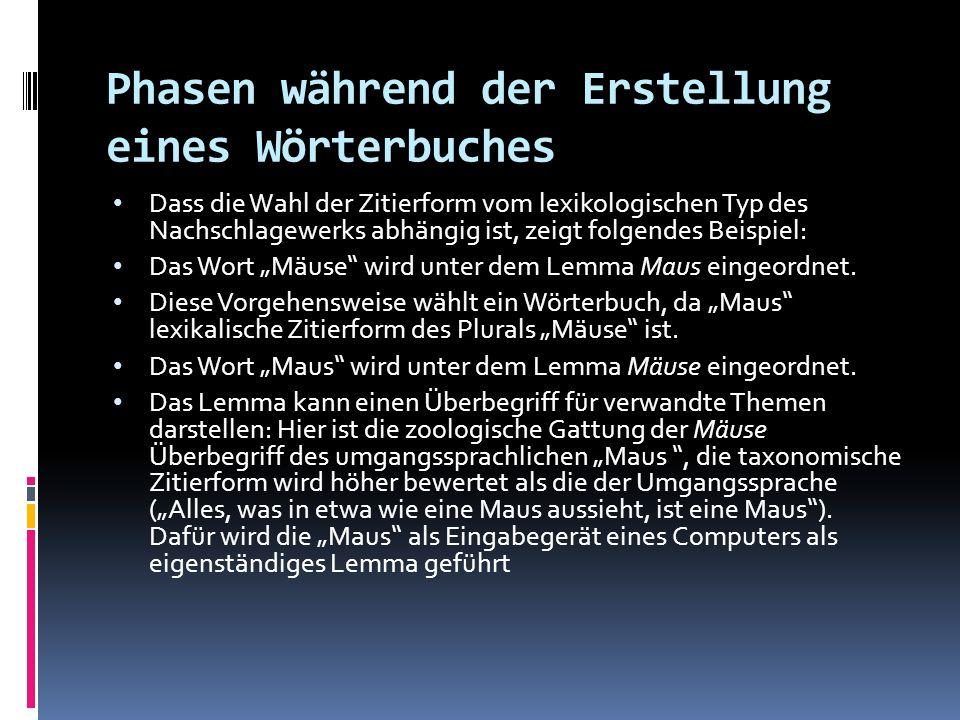 AUSWAHL EINES WÖRTERBUCHES 3.