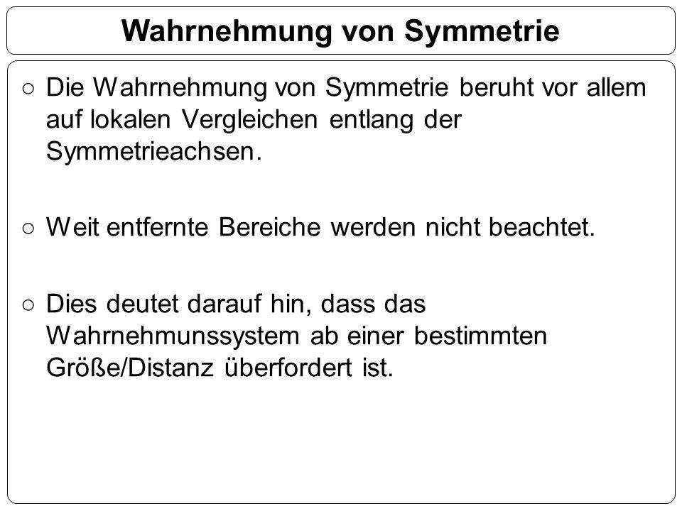 Die Wahrnehmung von Symmetrie beruht vor allem auf lokalen Vergleichen entlang der Symmetrieachsen.