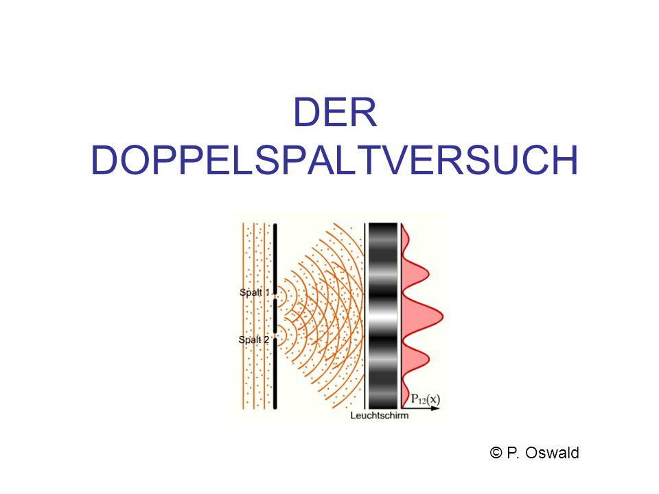 DER DOPPELSPALTVERSUCH © P. Oswald