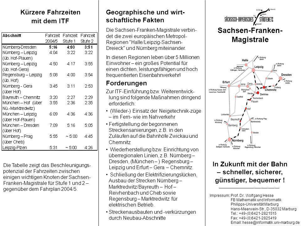In Zukunft mit der Bahn – schneller, sicherer, günstiger, bequemer .