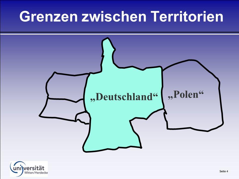 Seite 4 Grenzen zwischen Territorien Deutschland Polen