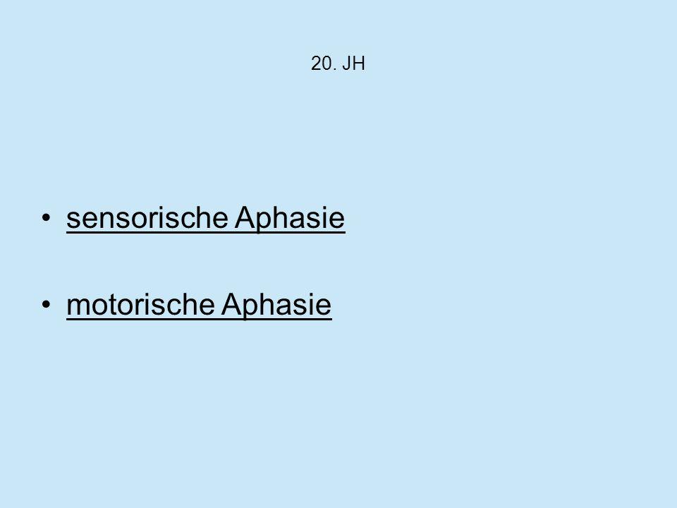sensorische Aphasie motorische Aphasie