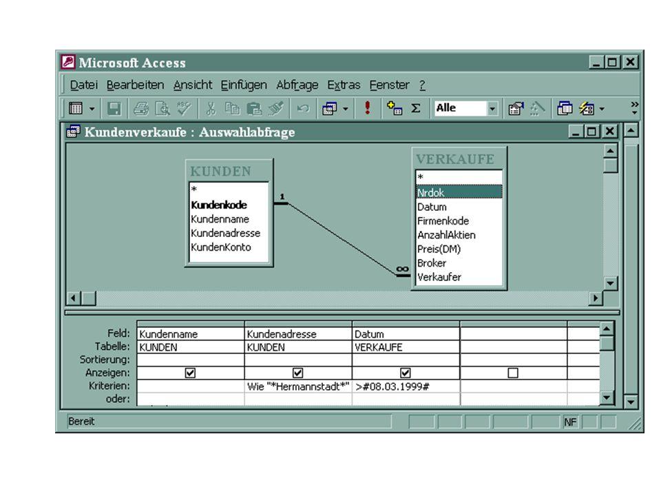 Aktionsabfragen Aktionsabfragen können Datensätze automatisch aktualisieren, löschen oder anfügen.