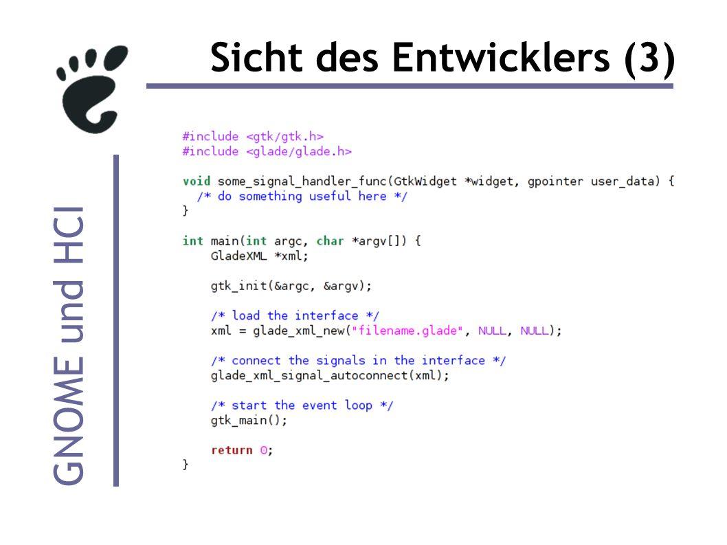 GNOME und HCI Sicht des Entwicklers (3)