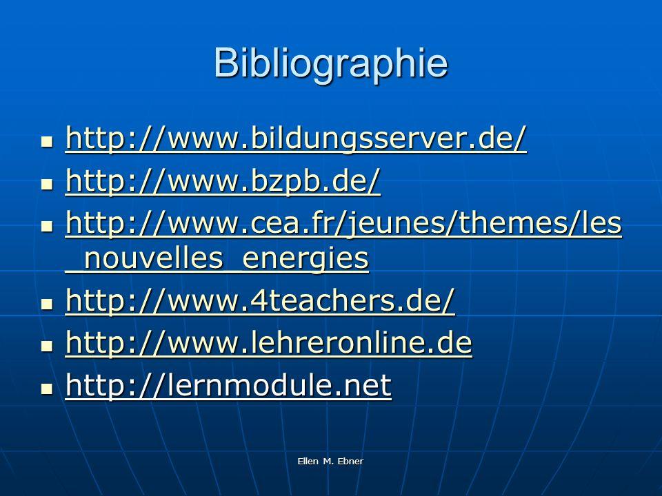 Ellen M. Ebner Bibliographie http://www.bildungsserver.de/ http://www.bildungsserver.de/ http://www.bildungsserver.de/ http://www.bzpb.de/ http://www.