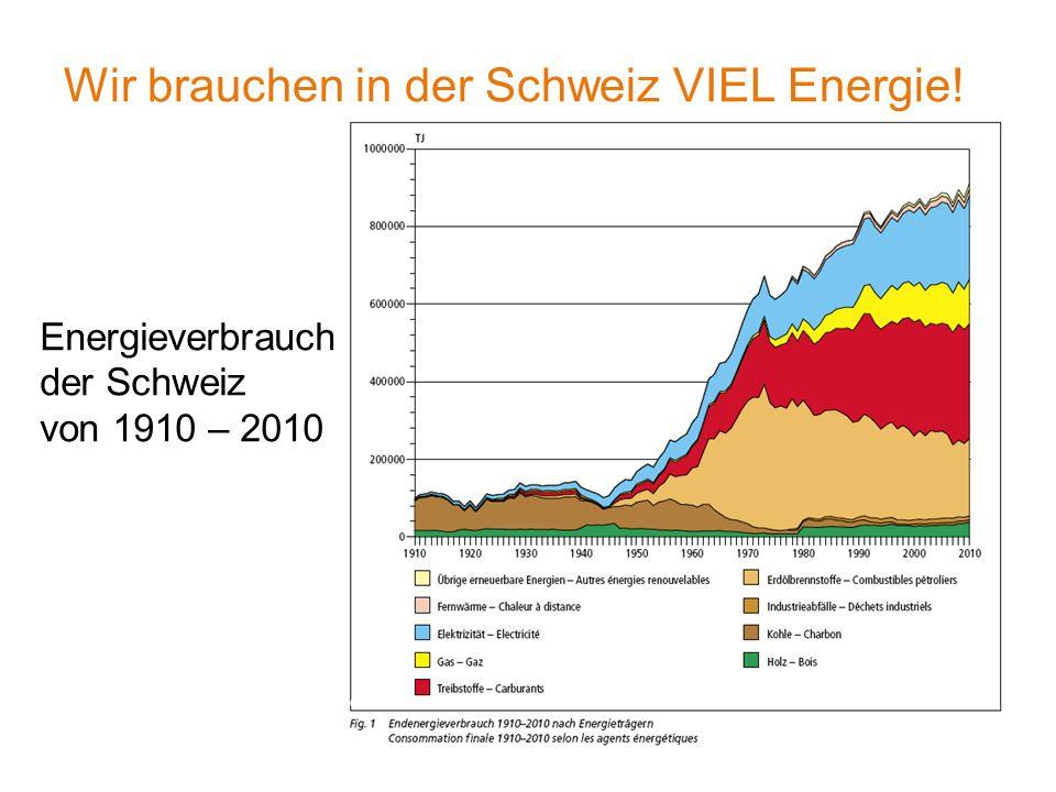 Wir brauchen in der Schweiz VIEL Energie.
