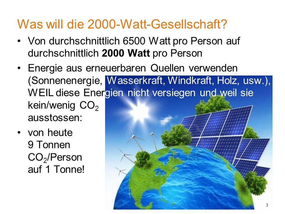 Was will die 2000-Watt-Gesellschaft.