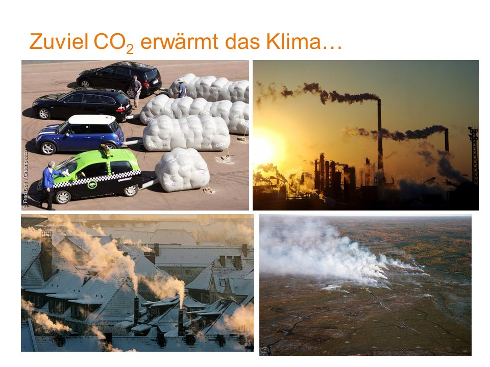 Zuviel CO 2 erwärmt das Klima… 4