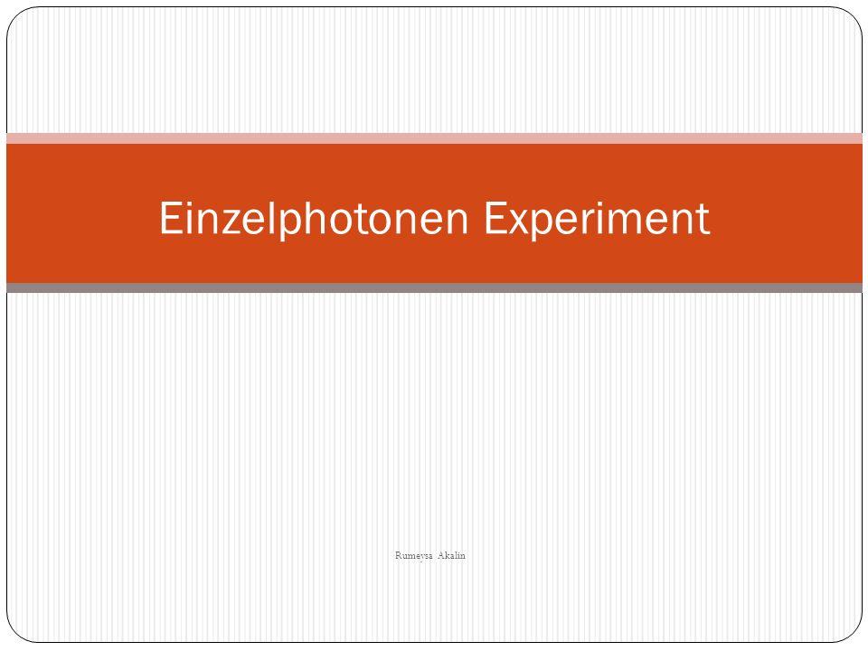 Gliederung: 1- Photonen 2- Theorie des Experiments 3- Ziel des Experiments 4- Versuchsaufbau 5- Diskussion