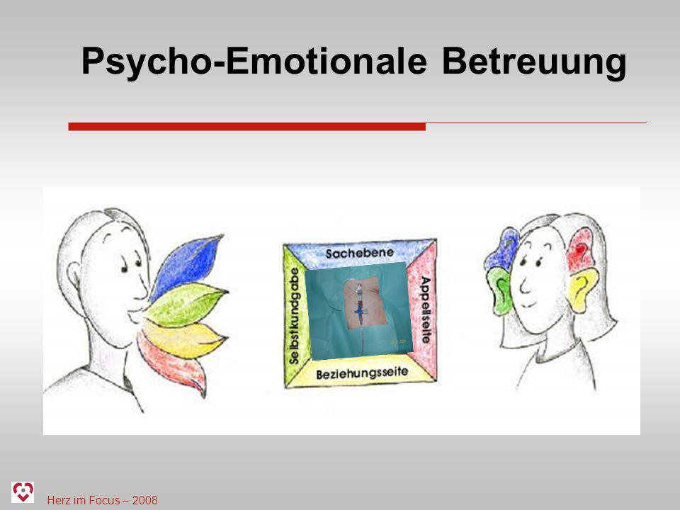 Herz im Focus – 2008 Psycho-Emotionale Betreuung