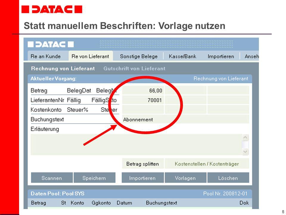 9 Belege digital erfassen mit DATAC24!