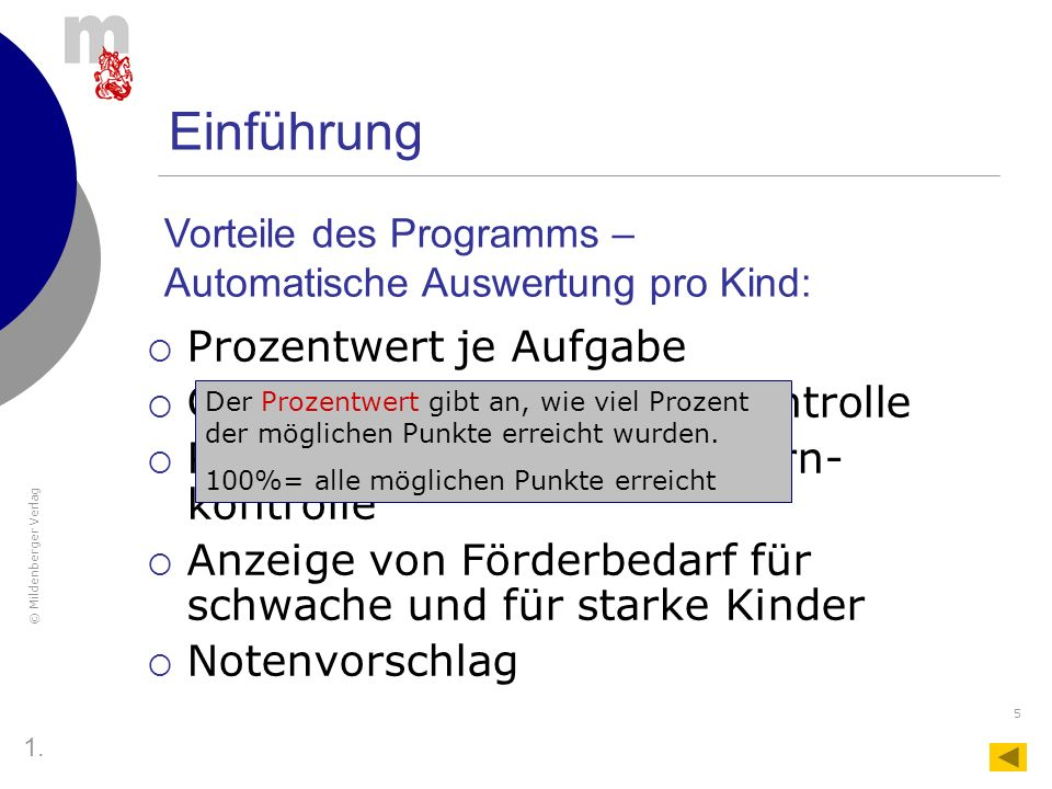 © Mildenberger Verlag 26 Das Tabellenblatt MLP 1 Um die Funktion auch schon bei der LK 1 nutzen zu können, muss man Daten aus dem Mathe-Lernstands- Paket 1 übertragen.