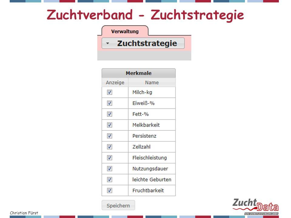 Christian Fürst Zuchtverband - Zuchtstrategie