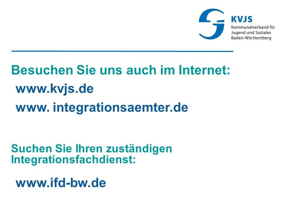 Besuchen Sie uns auch im Internet: www.kvjs.de www.