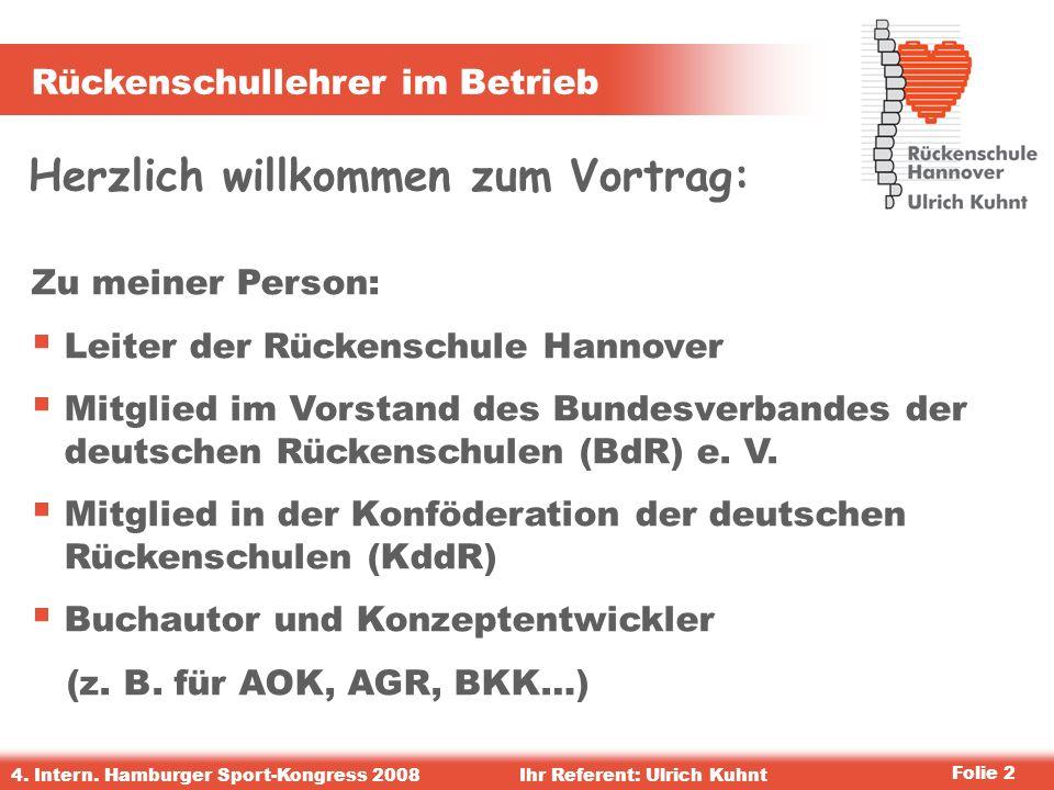 Rückenschullehrer im Betrieb 4.Intern.