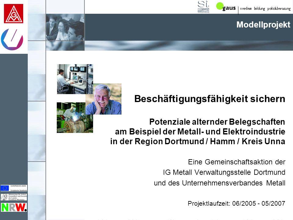 Beschäftigungsfähigkeit sichern Potenziale alternder Belegschaften am Beispiel der Metall- und Elektroindustrie in der Region Dortmund / Hamm / Kreis