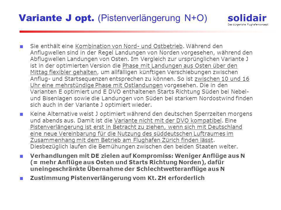 solidair Das bürgerliche Flughafenkonzept Situation heute ILS gestützter Anflug Piste 28 starke Westwindlage + abends 1.