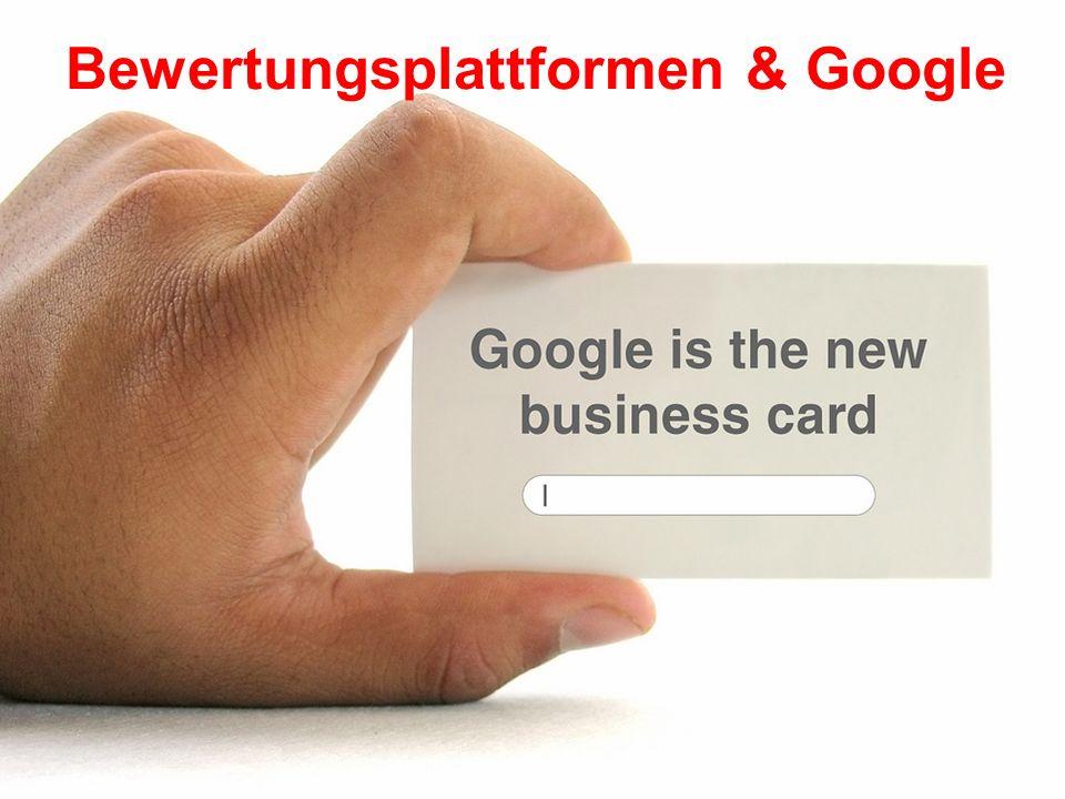 Bewertungsplattformen & Google