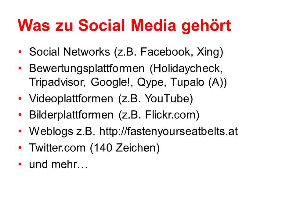 Was zu Social Media gehört Social Networks (z.B.