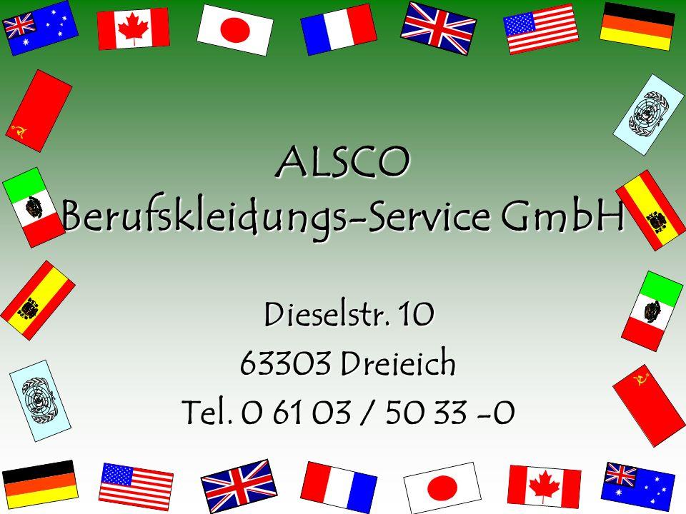 Die Schutzkleidung von ALSCO ist streng nach den Richtlinien der EG und der DIN-EN-Normen erstellt.