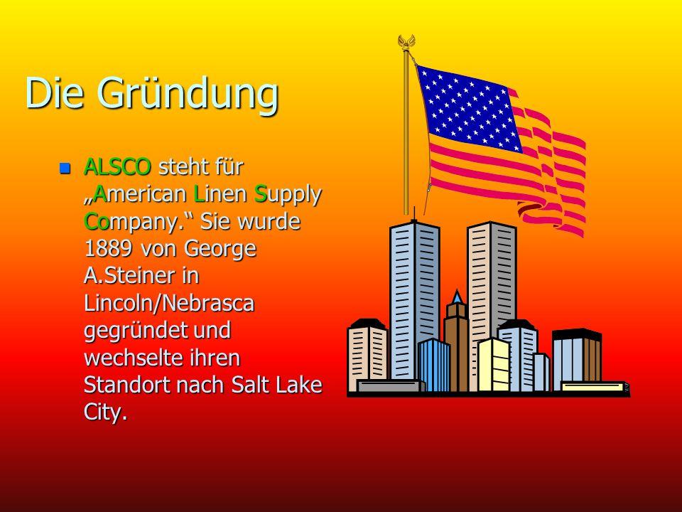 Die Gründung n ALSCO steht fürAmerican Linen Supply Company.