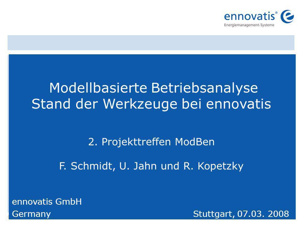 © ennovatis GmbH 1 Modellbasierte Betriebsanalyse Stand der Werkzeuge bei ennovatis 2.
