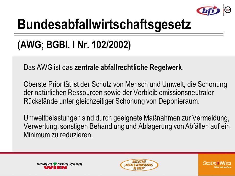 Bundesabfallwirtschaftsgesetz (AWG; BGBl.I Nr.