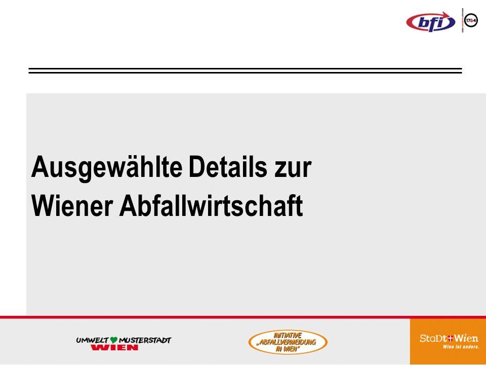 Ausgewählte Details zur Wiener Abfallwirtschaft
