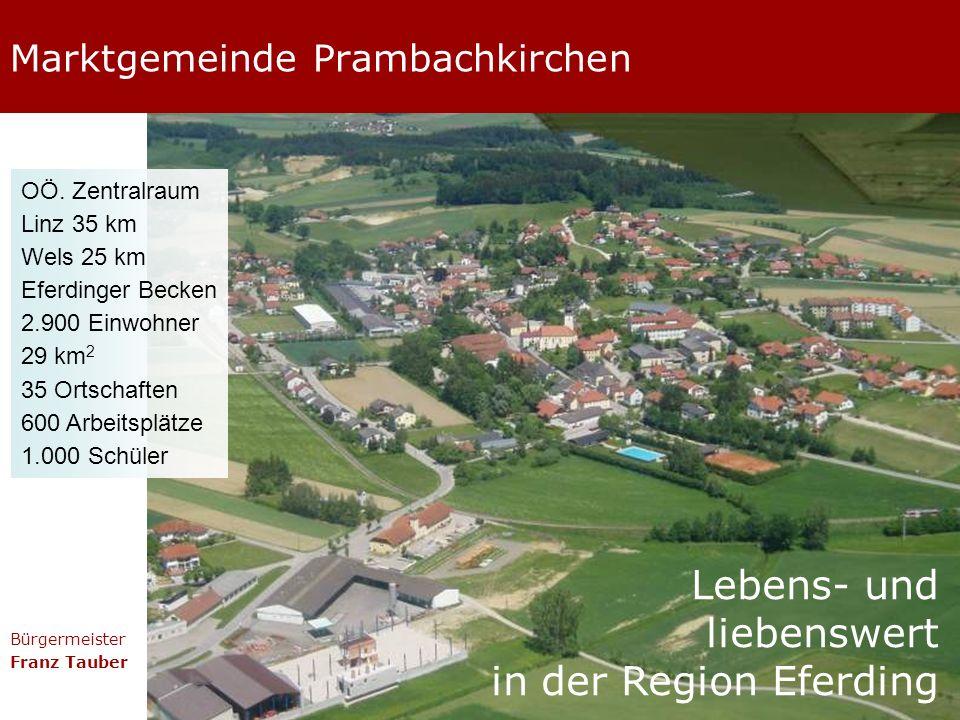 Marktgemeinde Prambachkirchen Bürgermeister Franz Tauber Lebens- und liebenswert in der Region Eferding OÖ.