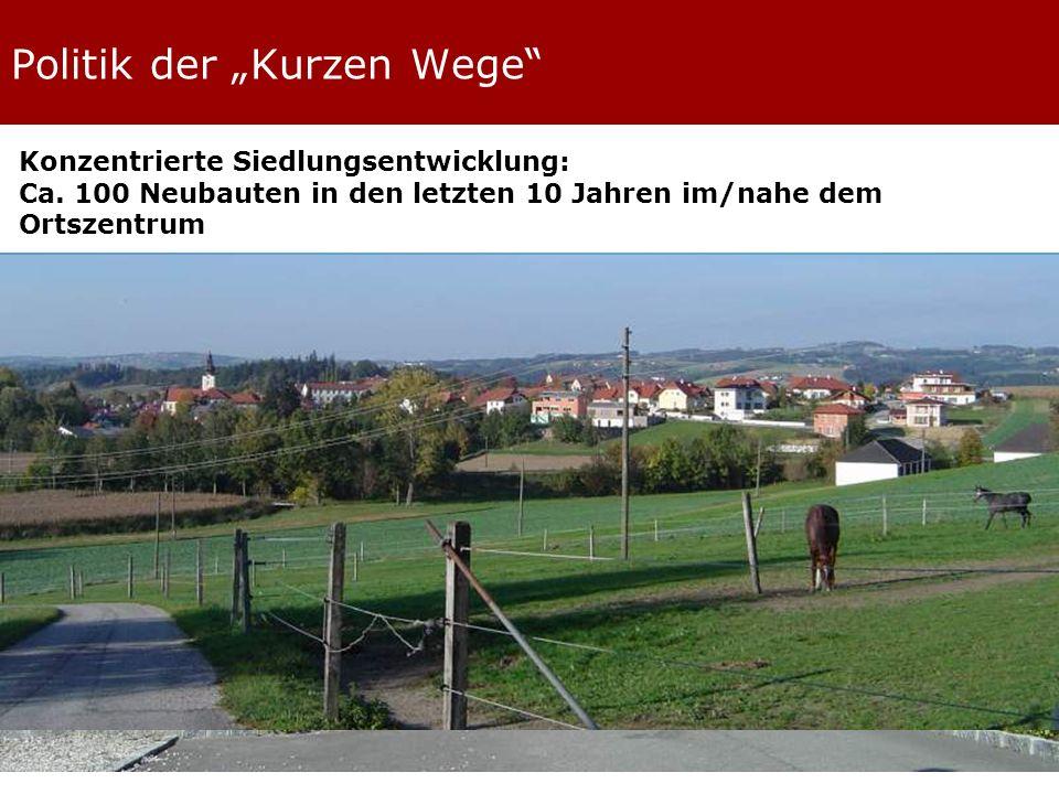 Politik der Kurzen Wege Konzentrierte Siedlungsentwicklung: Ca.