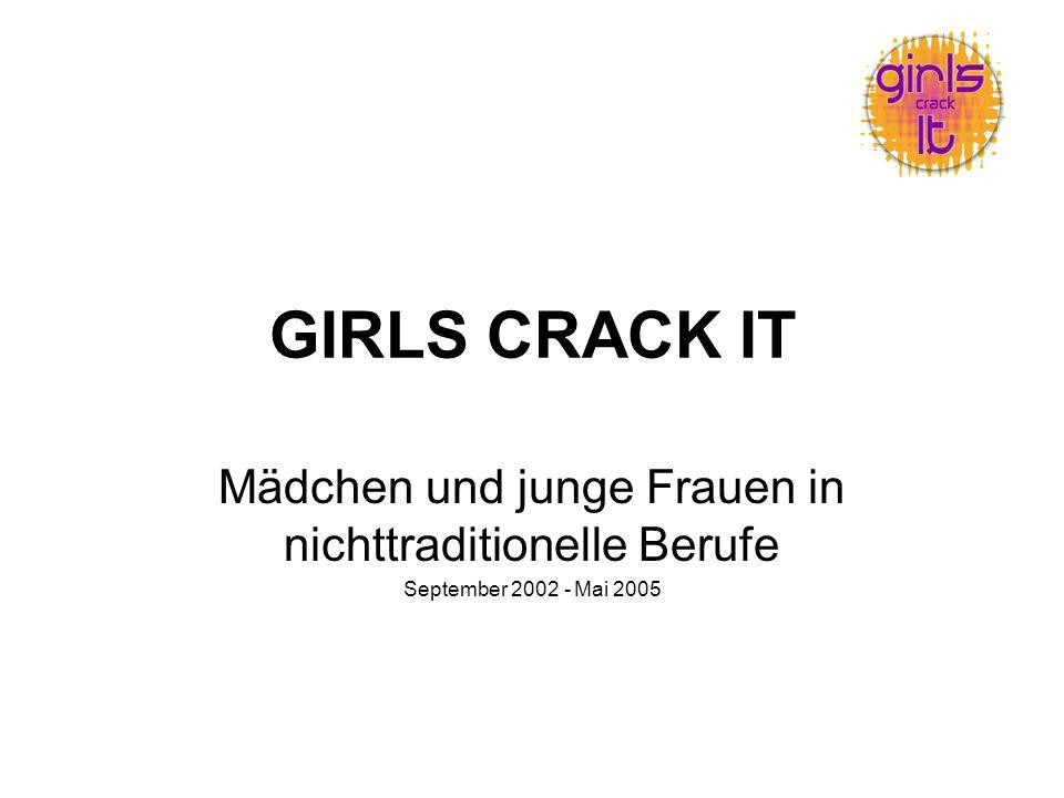GIRLS CRACK IT Mädchen und junge Frauen in nichttraditionelle Berufe September 2002 - Mai 2005