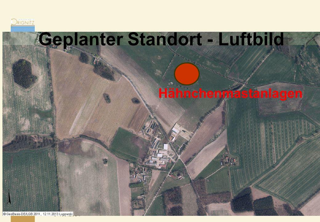 17.05.2014 Hähnchenmastanlagen Geplanter Standort - Luftbild