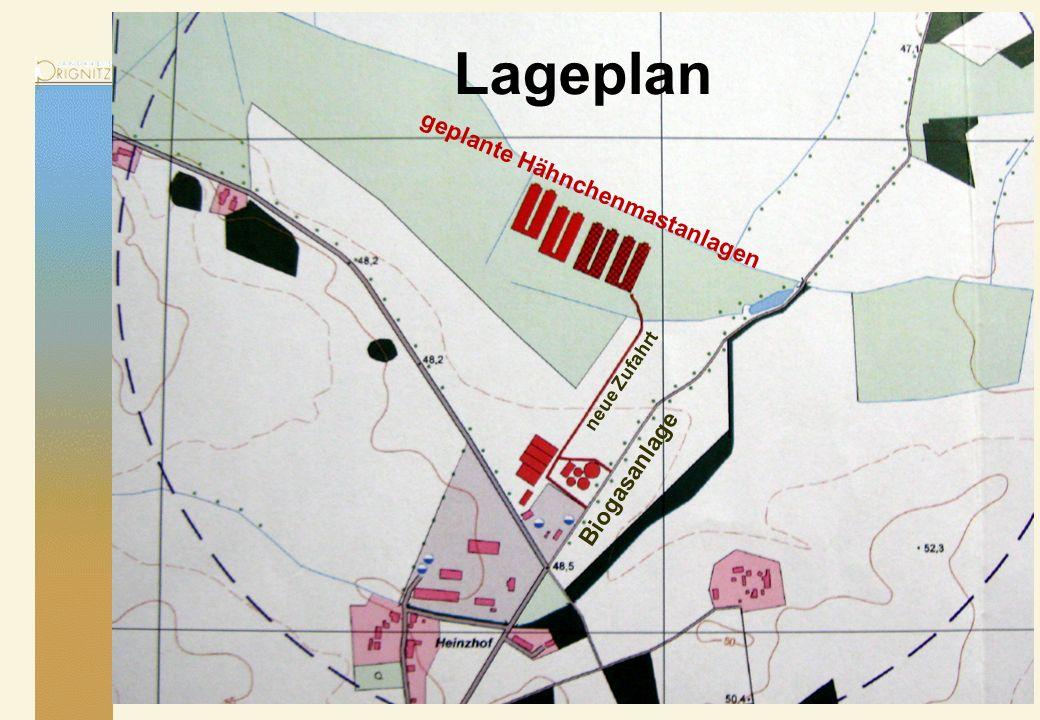 17.05.2014 Lageplan Biogasanlage neue Zufahrt geplante Hähnchenmastanlagen