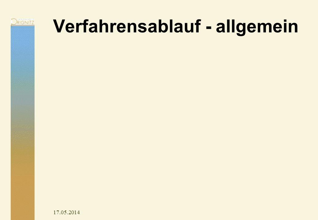 17.05.2014 Verfahrensablauf - allgemein