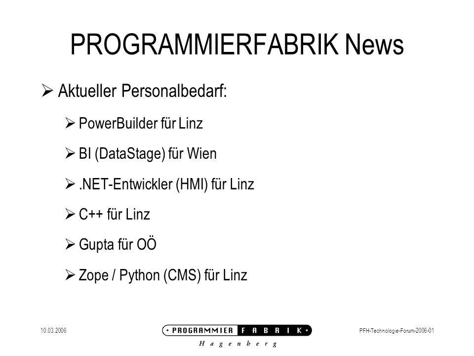 10.03.2006PFH-Technologie-Forum-2006-01 Clustering mit Apache/JBoss jvmRoute Eintrag im server.xml benennt den Knoten im web.xml ermöglicht Session Replication Tomcat