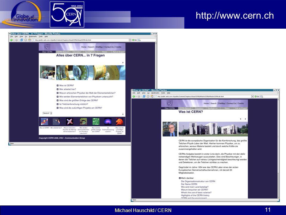 Michael Hauschild / CERN 11 http://www.cern.ch