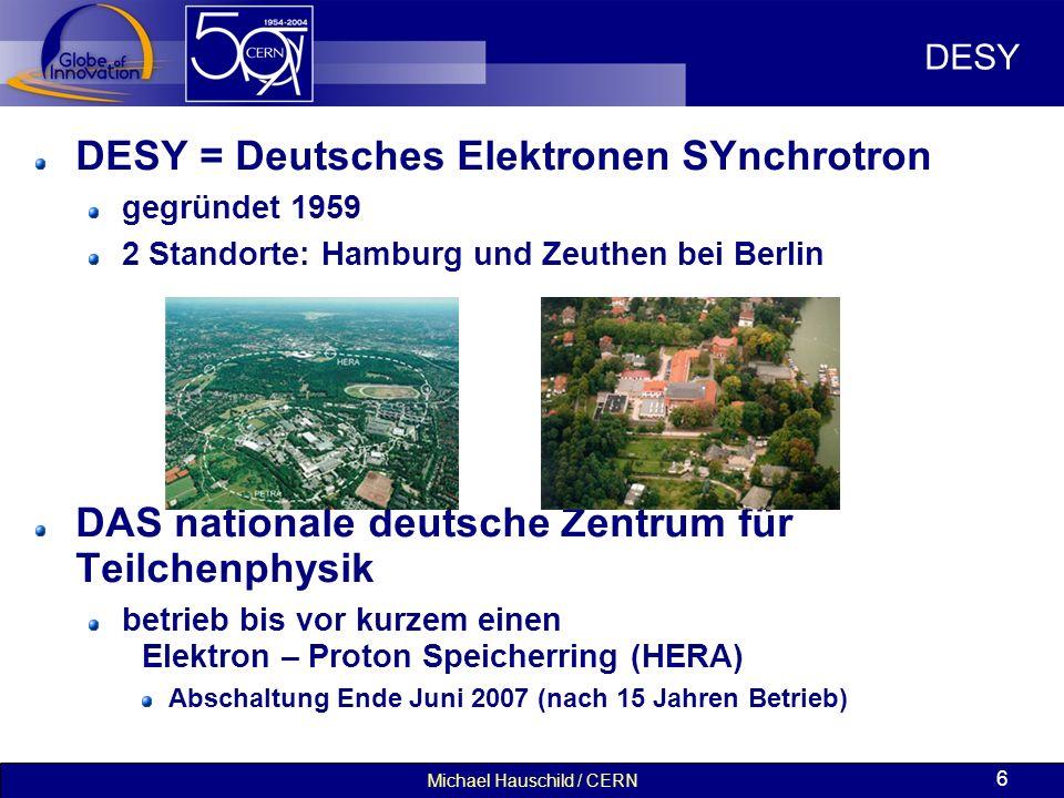 Michael Hauschild / CERN 27 Masterclasses